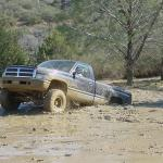 Out muddin. In all the years I played in this truck I never once became stuck. Great truck!